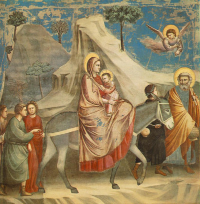 The Flight into Egypt Giotto